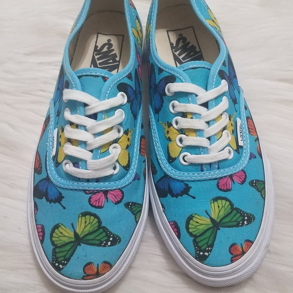 Clearance sale available fair price Vans Off The Wall Blue Butterfly Sneakers Sz 7
